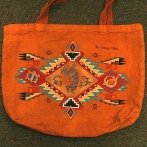 Kokopelli Motif Red Dirt Bag