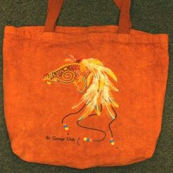 Decorative Horse Red Dirt Bag
