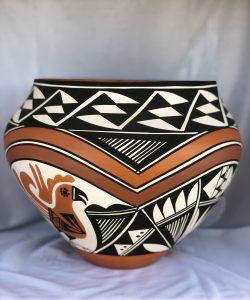 Acoma Pueblo Pottery Olla by Loretta Joe