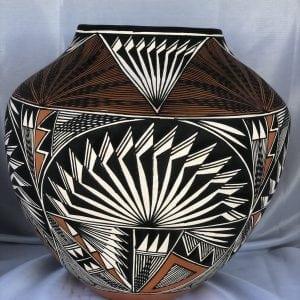 Acoma Pueblo Pottery Olla by Victorino