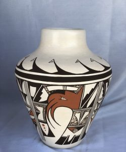 Hopi Pueblo Pottery Olla by Delores Roberts Granddaughter of Frog Woman