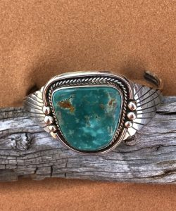 Royston Turquoise cuff bracelet by C. Yazzie