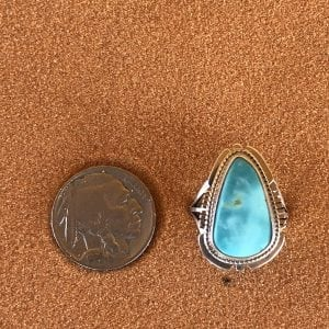 Kingman Turquoise set in a Sterling Silver ring