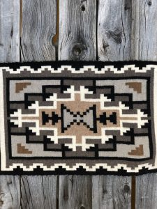 Genuine Navajo Rug Weaver: Helen Begay Area: Two Grey Hills Size: 33 1/2
