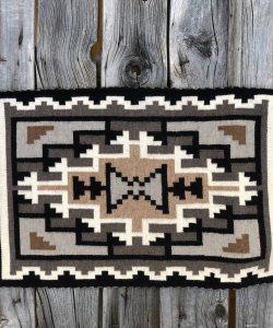 Genuine Navajo Rug Weaver: Helen Begay Area: Two Grey Hills Size: 33 1/2
