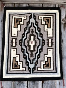Genuine Navajo Rug Weaver: Cheryl Brown Area: Two Grey Hills Size: 30