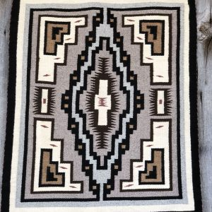 "Genuine Navajo Rug Weaver: Cheryl Brown Area: Two Grey Hills Size: 30"" x 38"