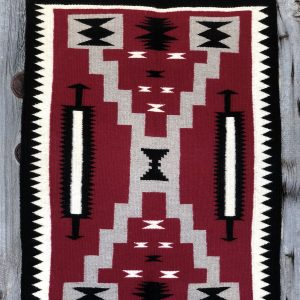 "Genuine Navajo Rug Weaver: Shirly Johnson Area: Storm Size: 35 1/2"" x 26"""