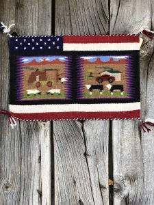 Genuine Navajo Rug Weaver: Irene Warren Area: Pictorial Size: 10 1/2