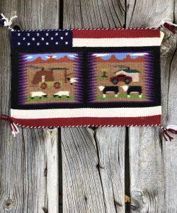 Genuine Navajo Rug Weaver: Irene Warren Area: Pictorial Size: 10 1/2