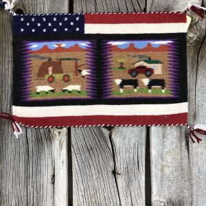 "Genuine Navajo Rug Weaver: Irene Warren Area: Pictorial Size: 10 1/2"" x 16 1/2"""