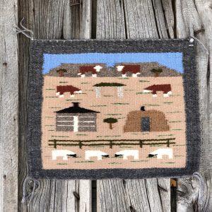 """Genuine Navajo Rug Weaver: Cecelia Curley Area: Pictorial Size: 15"""" x 12"""""""