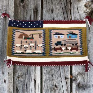 """Genuine Navajo Rug Weaver: Irene Warren Area: Ariz Navajo Size: 20"""" x 12"""""""