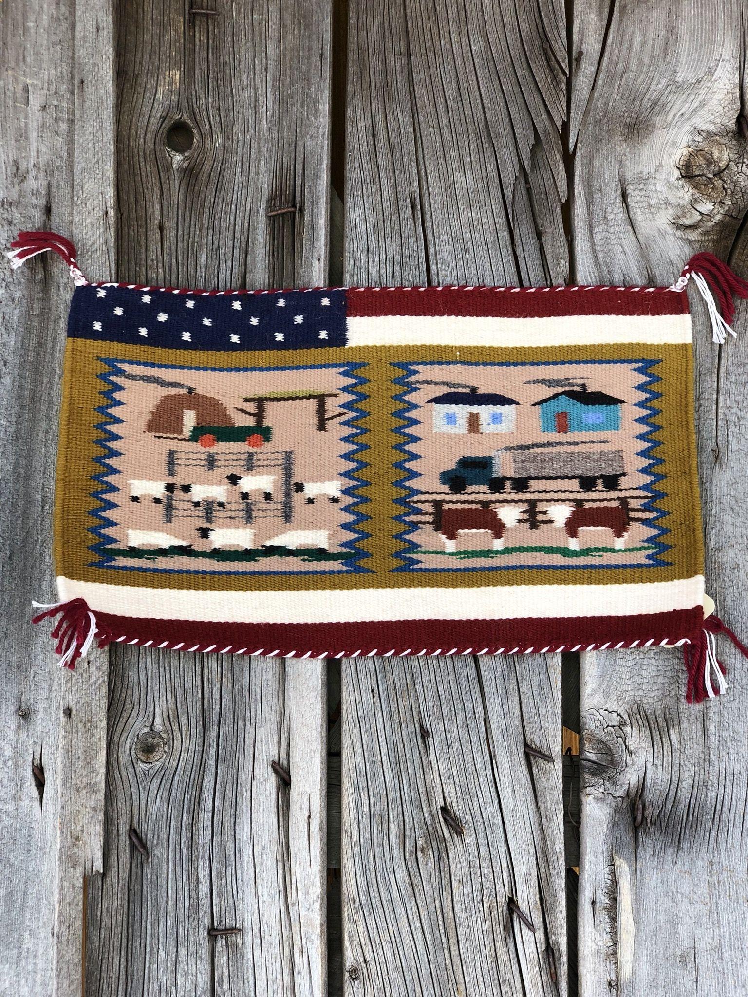 Genuine Navajo Rug Weaver: Irene Warren Area: Ariz Navajo Size: 20