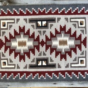 "Genuine Navajo Rug Weaver: Farah Nez Area: Ganado Size: 31 1/2"" x 41 1/2"""