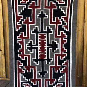 "Genuine Navajo Rug Weaver: Ann Shirley Area: Ganado Size: 60"" x 32"""