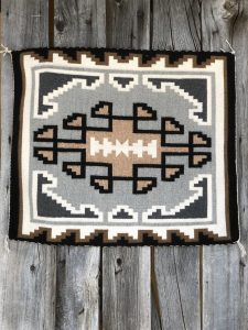 Genuine Navajo Rug Weaver: Mae Tan Area: Two Grey Hills Size: 33 1/2