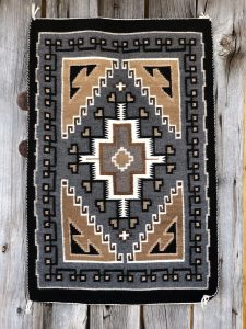 Genuine Navajo Rug Weaver: Margaret Billy Area: Two Grey Hills Size: 27