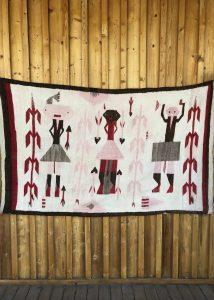 Genuine Navajo Rug Vintage 1930's Area: Pictorial-Yei Size: 64