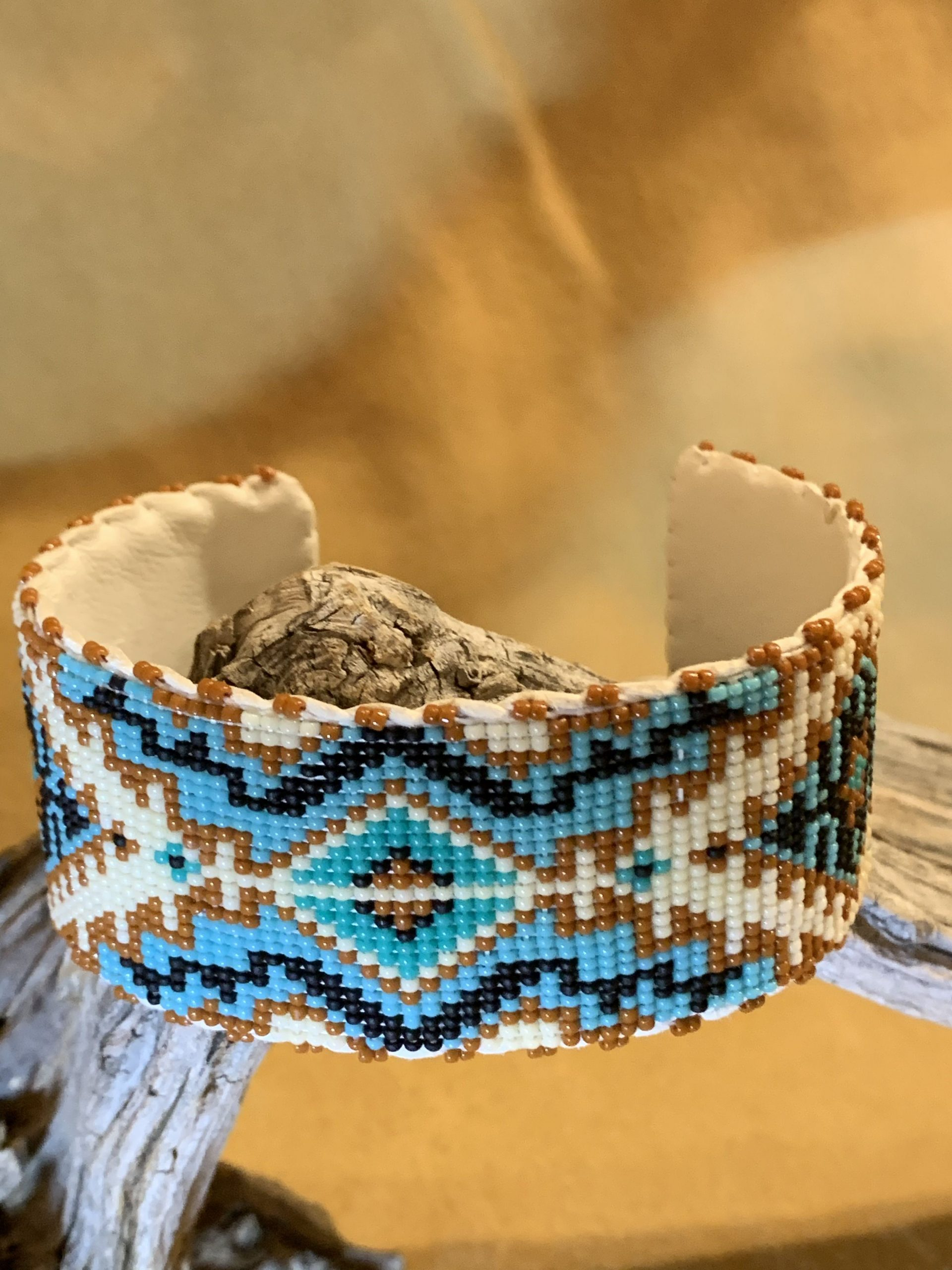 Native American Beaded Cuff Bracelet Cowboys And Indians