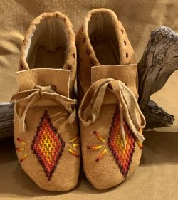 Native American Beaded Moccasins-Youth
