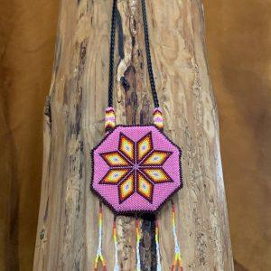 Native American Beaded Medallion