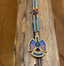 Native American Beaded Waterbird Medallion