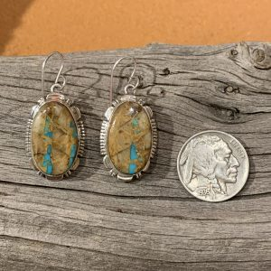 Boulder Turquoise set in Sterling Silver