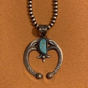 Eva Billah Turquoise and Sterling Silver Naja with Beads