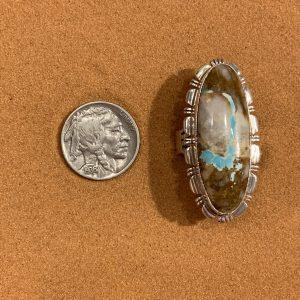 Boulder Turquoise set in Sterling Silver