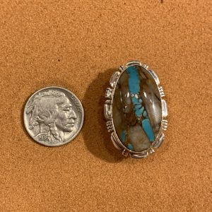 Boulder Turquoise set in Sterling Silver Ring