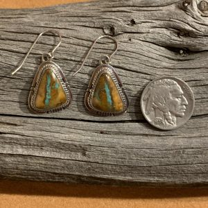 Boulder Turquoise Earrings set in Sterling Silver
