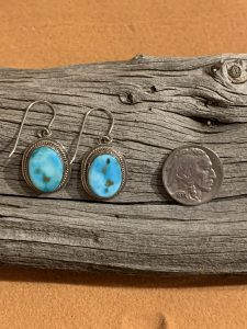 Turquoise Mountain Earrings set in Sterling Silver
