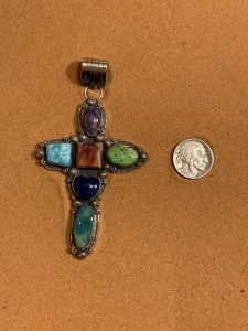 Multi-Colored Cross Pendant